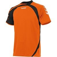 Hummel Odense Shirt Korte Mouw Kinderen - Shocking Orange / Zwart
