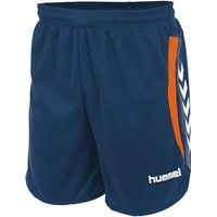 Hummel Odense Short Kinderen - Dark Denim / Shocking Orange