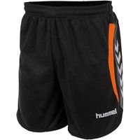 Hummel Odense Short Kinderen - Zwart / Shocking Orange