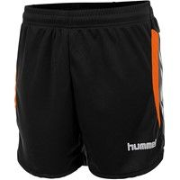 Hummel Odense Short Dames - Zwart / Shocking Orange