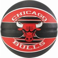 Spalding Chicago Bulls (size 5) Team Outdoor Basketbal - Zwart / Rood