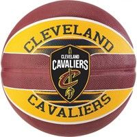 Spalding Cleveland Cavaliers (size 5) Team Outdoor Basketbal - Bordeaux / Geel