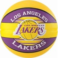 Spalding La Lakers (size 5) Team Outdoor Basketbal - Geel / Paars