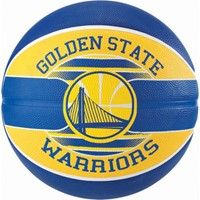 Spalding Golden State Warriors (size 5) Team Outdoor Basketbal - Royal / Geel